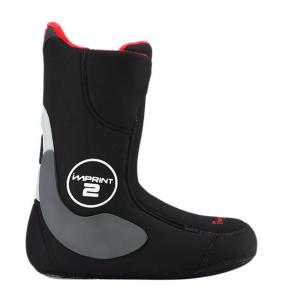 Snowboard inder støvler i sort